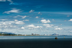 Hua- Hin beach. and boat, Royalty Free Stock Images
