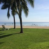 Hua hin beach in the morning Royalty Free Stock Photography