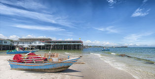 Hua Hin Beach Panorama Royalty Free Stock Images