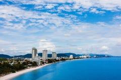 Hua-Hin beach, Thailand. Hua-Hin beach on summer, Thailand stock image