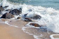 Hua Hin beach. Thailand, rock stock photography