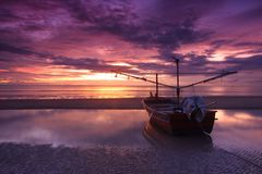 Hua hin. Boat and sea in hua hin (thailand stock image