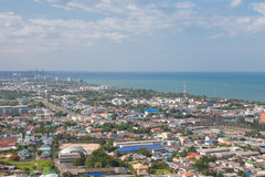 Hua Hin City,Thailand,View from the top. Royalty Free Stock Photography