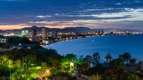 Hua Hin cityscape Thailand. At twilight Royalty Free Stock Photography