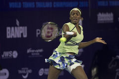 HUA HIN-DEC 31: World No.7 Tennis player Venus Williams of USA i Royalty Free Stock Photo
