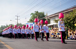 HUA HIN- DECEMBER 5: Soldiers in parade uniforms to celebrate Stock Image