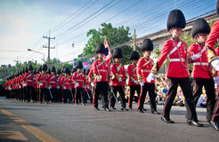 HUA HIN- DECEMBER 5: Soldiers in parade uniforms to celebrate Stock Images