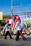 HUA HIN- DECEMBER 5: Soldiers in parade uniforms to celebrate Stock Photography