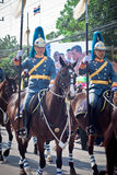 HUA HIN- DECEMBER 5: Soldiers in parade uniforms to celebrate Stock Photo