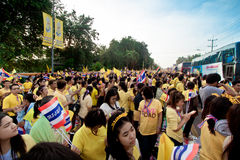 HUA HIN- DECEMBER 5: Thai people to celebrate for the 86th Stock Images