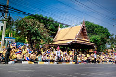HUA HIN- DECEMBER 5: Thai people to celebrate for the 86th Royalty Free Stock Photography