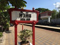 Hua hin district. Hua hin railway station stock photos