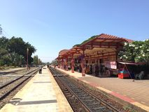 Hua hin district. Hua hin railway station stock photography