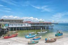 Hua Hin Fishing Boats Royalty Free Stock Images
