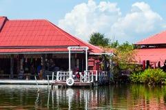 Hua Hin Floating Market in Hua Hin thailand stock afbeelding