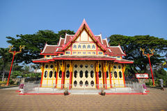 Hua Hin-het station is een beroemde plaats, Hua Hin, Thailand Stock Foto