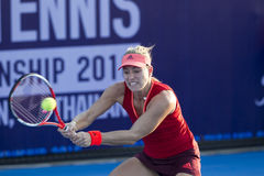 HUA HIN-JAN 1: Angelique Kerber of Germany in action during a ma Royalty Free Stock Photography