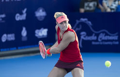 HUA HIN-JAN 1: Angelique Kerber of Germany in action during a ma Royalty Free Stock Photo