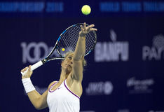 Hua Hin-Jan 1: Sara Errani of Italy in action during a match of Stock Photos