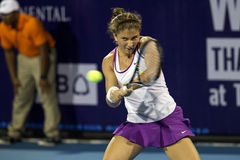 Hua Hin-Jan 1: Sara Errani of Italy in action during a match of Stock Images