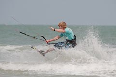 Hua Hin Kite Boarding World Cup 2010 Royalty Free Stock Photos