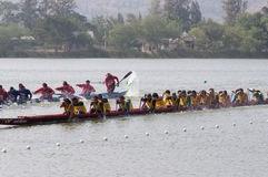 Hua Hin Long Boat Competition 2011 Stock Image