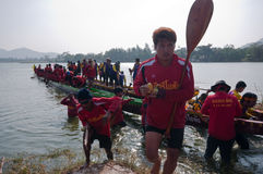Hua Hin Long Boat Competition 2011 Stock Photo