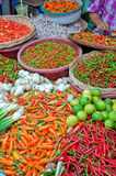 Hua Hin Market 01. A fresh food market stall situated in the town of Hua Hin in Thailand Royalty Free Stock Images