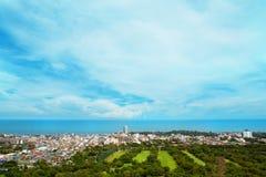 Hua Hin miasto od scenicznego punktu, Hua Hin, Tajlandia Zdjęcia Royalty Free