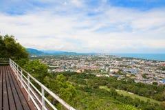 Hua Hin miasto od scenicznego punktu, Hua Hin, Tajlandia Obrazy Stock