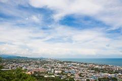 Hua Hin miasto od scenicznego punktu, Hua Hin, Tajlandia Zdjęcie Royalty Free