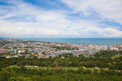 Hua Hin miasto od scenicznego punktu, Tajlandia Fotografia Royalty Free