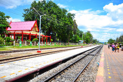 Hua Hin Railway Station. A view of Hua Hin railway station on September 4,2011 Stock Photo