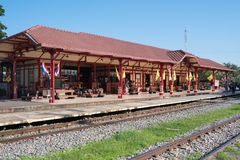 Hua Hin Railway station is a major tourist attraction of Hua Hin Royalty Free Stock Photo
