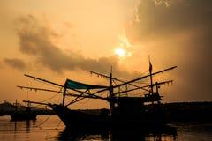 Hua Hin strand i Thailand Arkivbilder