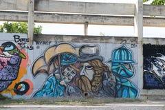 HUA HIN, TAILÂNDIA - May30,2015: Fábrica velha abandonada grafittis s Fotografia de Stock