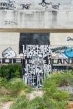 HUA HIN, TAILÂNDIA - May30,2015: Fábrica velha abandonada grafittis s Fotografia de Stock Royalty Free
