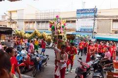 Hua Hin, Tailandia - 18 de febrero de 2015: Ji de la celebración de la gente tailandesa Imágenes de archivo libres de regalías
