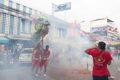 Hua Hin, Tailandia - 18 de febrero de 2015: Ji de la celebración de la gente tailandesa Fotos de archivo