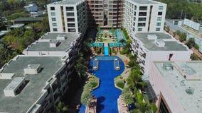 Hua Hin, Tailandia - 10 de marzo de 2019: Marrakesh Hua Hin Apartment, hotel por el mar imagen de archivo