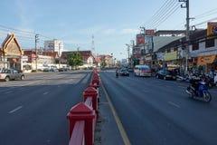 HUA HIN TAJLANDIA, Grudzień, - 8, 2017: Drogowy ruch drogowy w Hua Hin Obraz Stock
