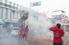 Hua Hin,Thailand - February 18, 2015: Thai people celebration Chi Stock Photos