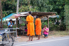 Almsgiving in Thailand Stock Images