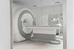 MRI scanner room Royalty Free Stock Photos
