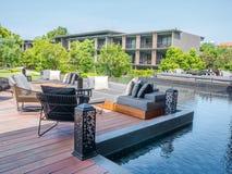 Hua Hin, Thailand - June 23, 2018: The five-star is Hua Hin Marriott Resort & Spa one of Hua Hin`s finest luxury hotels, Prachuap. Khiri Khan province, Thailand Royalty Free Stock Photo