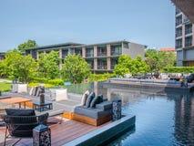 Hua Hin, Thailand - June 23, 2018: The five-star is Hua Hin Marriott Resort & Spa one of Hua Hin`s finest luxury hotels, Prachuap. Khiri Khan province, Thailand Stock Photo