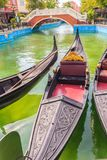 Hua Hin, Thailand - March 16, 2017: Beautiful gondola boat and b Stock Photo