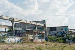 HUA HIN ,THAILAND - May30,2015 :Graffiti abandoned old factory s Royalty Free Stock Photos