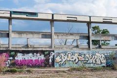 HUA HIN ,THAILAND - May30,2015 :Graffiti abandoned old factory s Stock Images