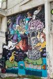 HUA HIN, THAILAND - May30,2015: Graffiti verlassene alte Fabrikstruktur Stockbild